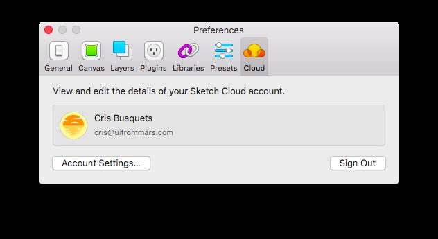 Registro Sketch Cloud