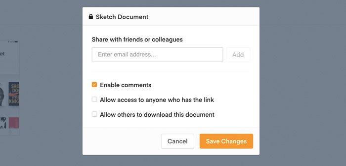 Compartir documento Sketch Cloud