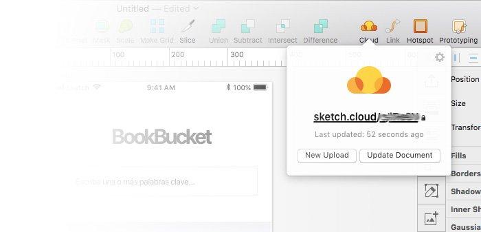 Actualizar archivo Sketch Cloud