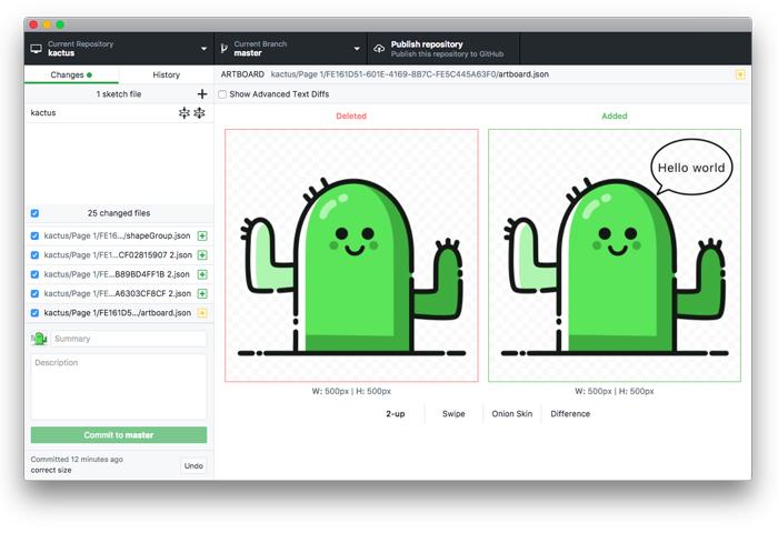 Kaktus - Sketch versioning