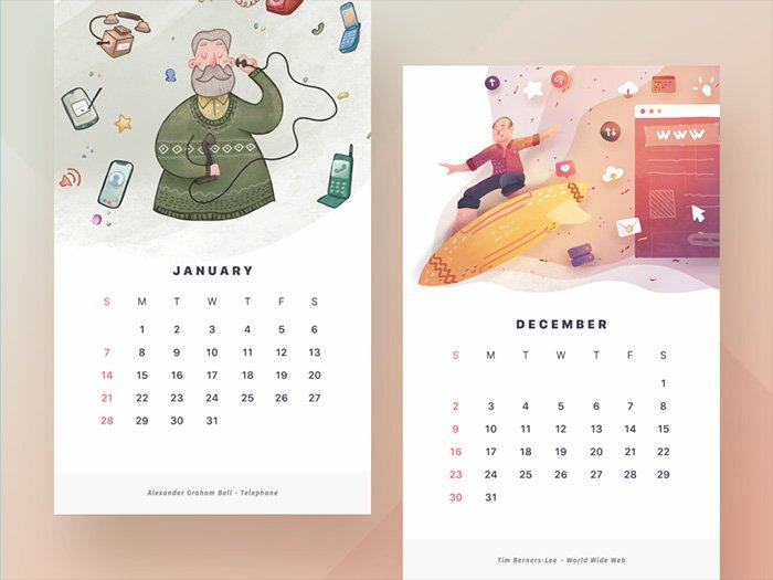 Inspiración Carlos Tallón - UI Calendario