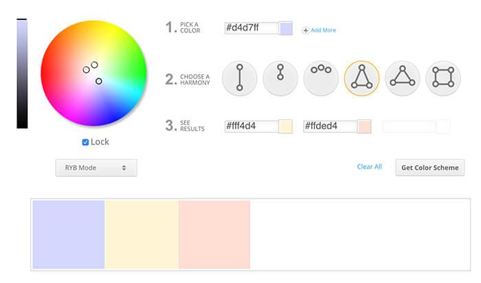 Paleta de color diseño UI: Split complementario