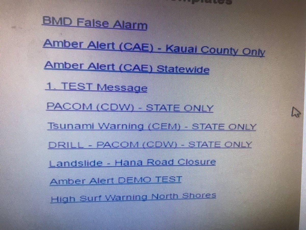 Alerta misil Hawai - Mal diseño UI