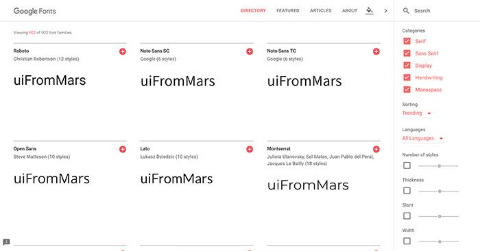 Cómo escoger tipografías - Google Fonts