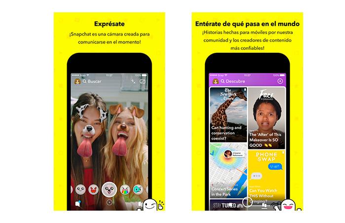 Snapchat - UI complejo