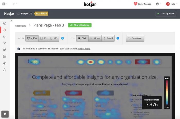 Hotjar - Herramientas diseño UX