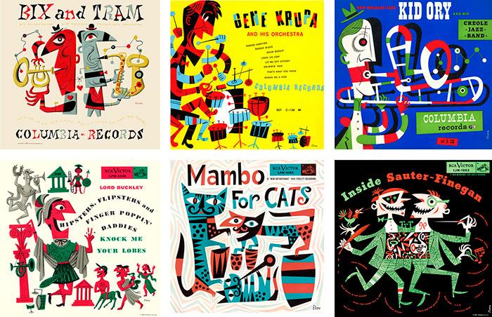 Las portadas de discos de Jim Flora
