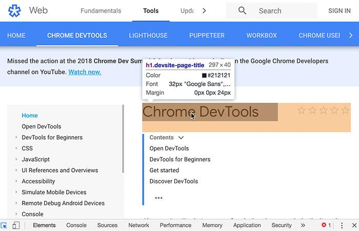 Inspector Accesibilidad - Google Chrome