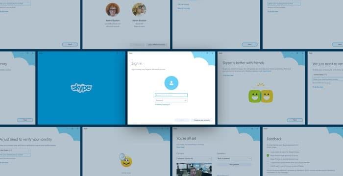Diseño UI Onboarding Skype - Miguel Oliva