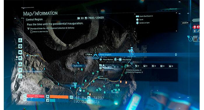 Mapas UI en Death Stranding
