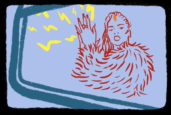 Ilustración de Rosalía