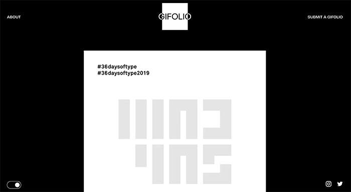 Gifolio - Inspiración de portfolios... en gifs