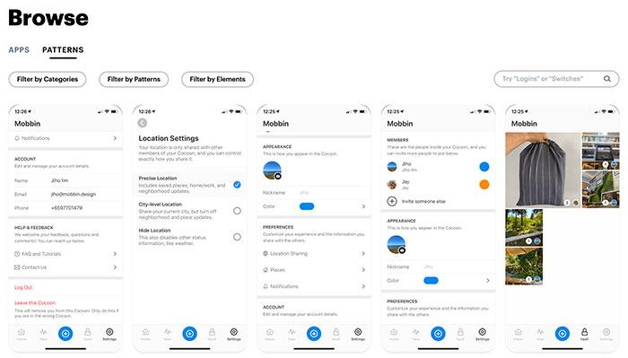 Mobbin - Inspiración en diseño iOS