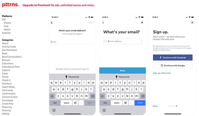 Pttrns - Patrones de diseño iOS y Android