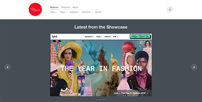 Site Inspire - Inspiración de diseño web UI