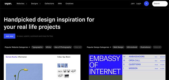 UIJar - Inspiración en diseño UI y UX
