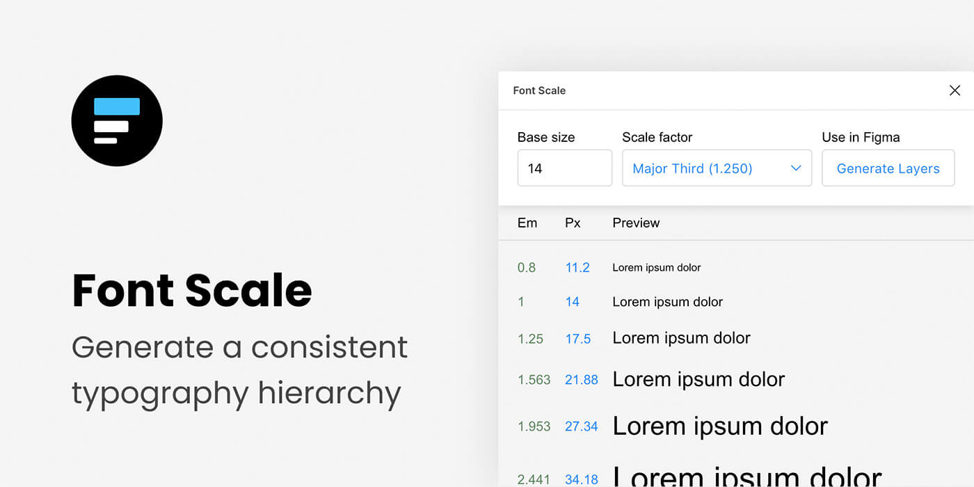 Font Scale para Figma