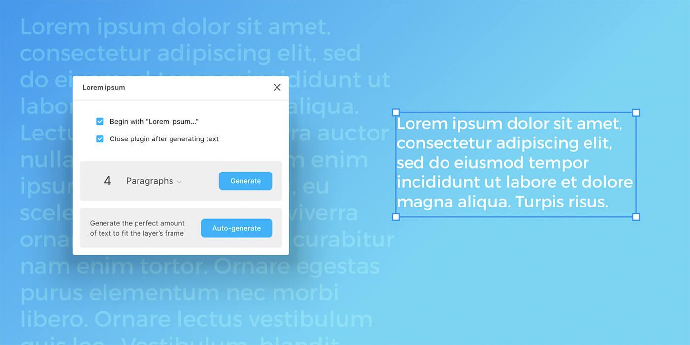 Lorem Ipsum para Figma