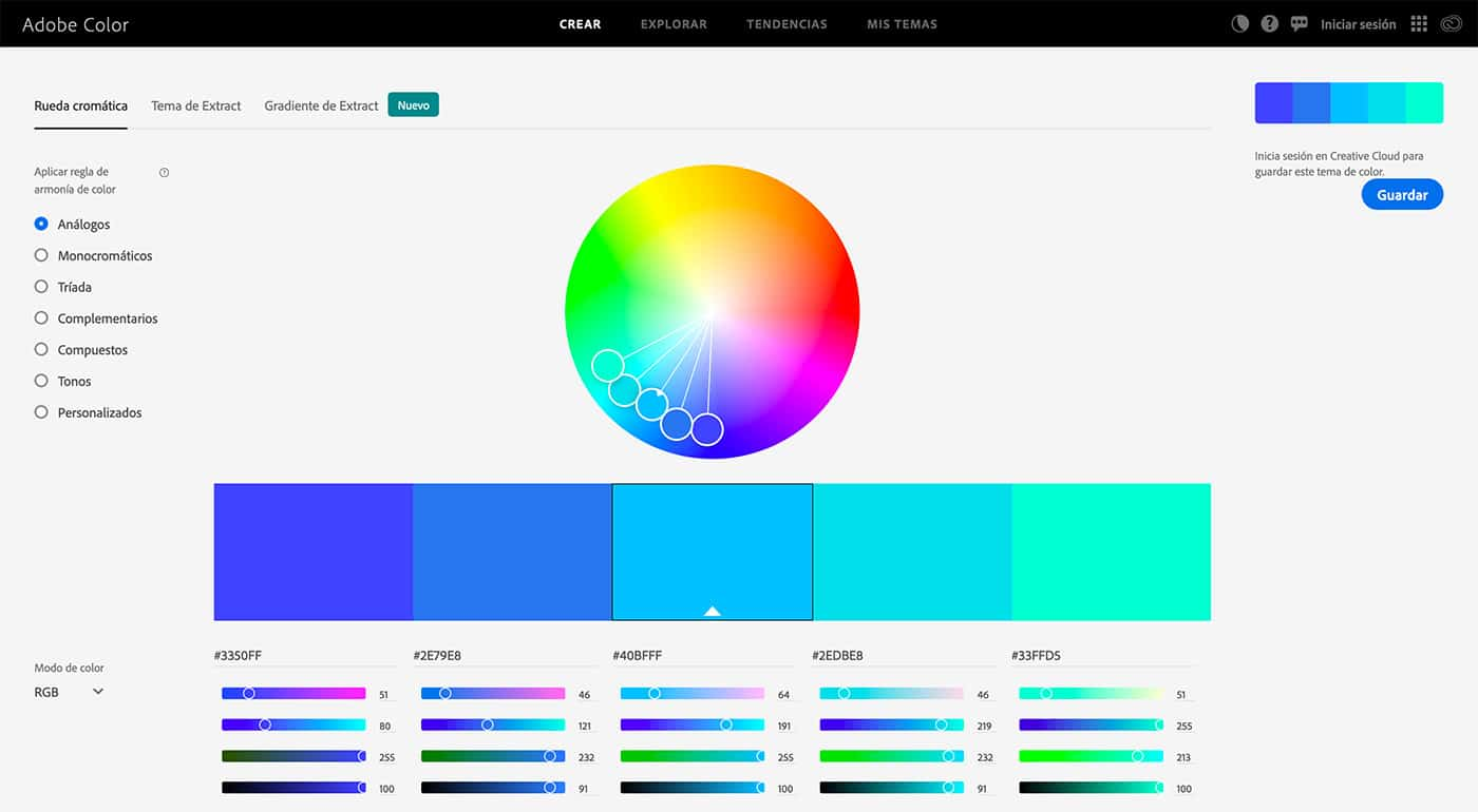Adobe Color - Herramientas diseño UI