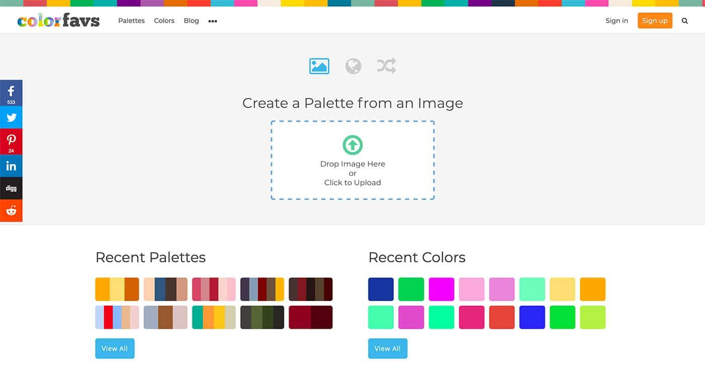 ColorFavs - Herramientas diseño UI
