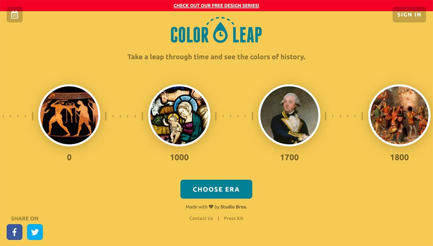 Color Leap - Herramientas diseño UI