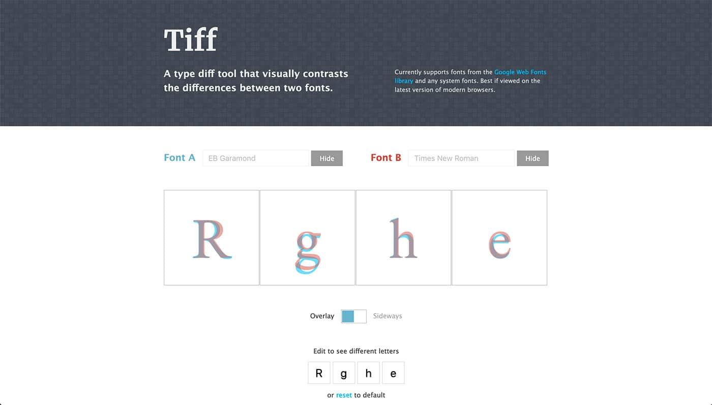 Tiff - Herramientas diseño UI