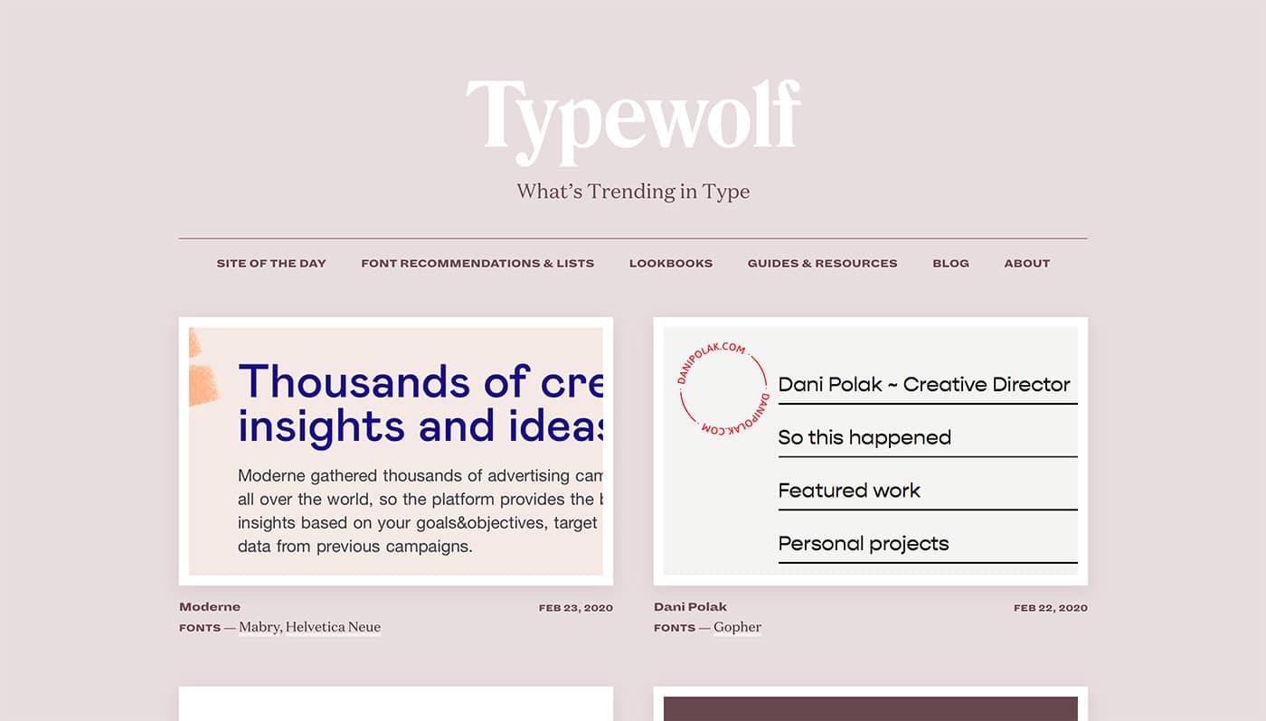 Typewolf - Herramientas diseño UI
