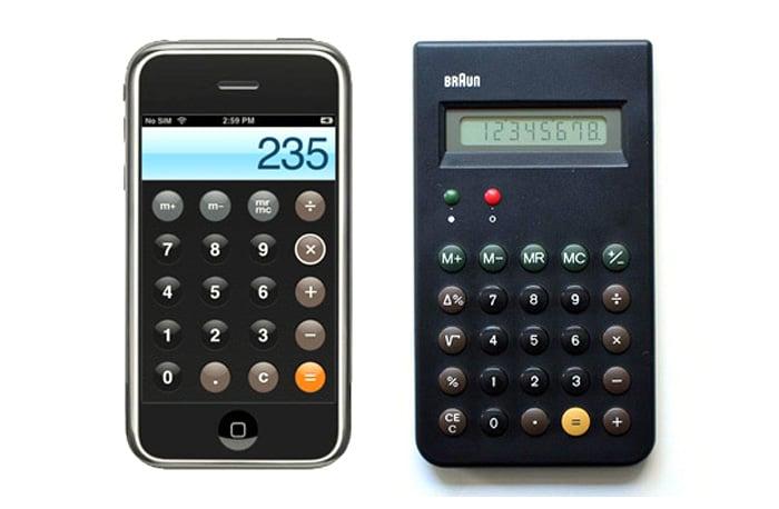 Braun ET44 (1977) | Aplicación de calculadora (2007)