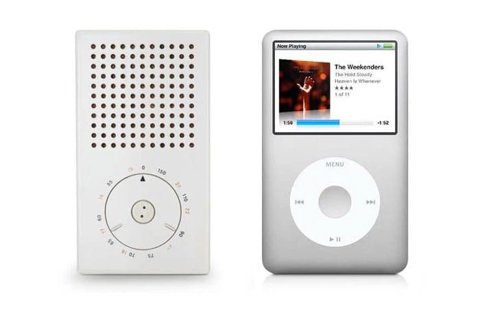 Braun T3 Pocket Radio (1958) | Apple iPod (2001)