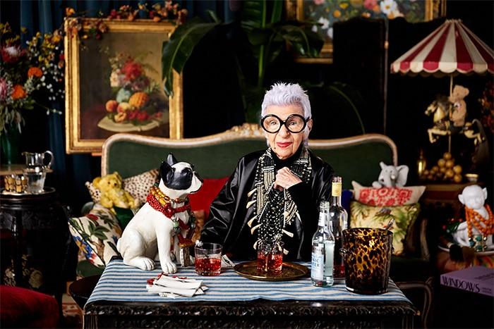 Iris Apfel en la presentación de su colección de joyas.