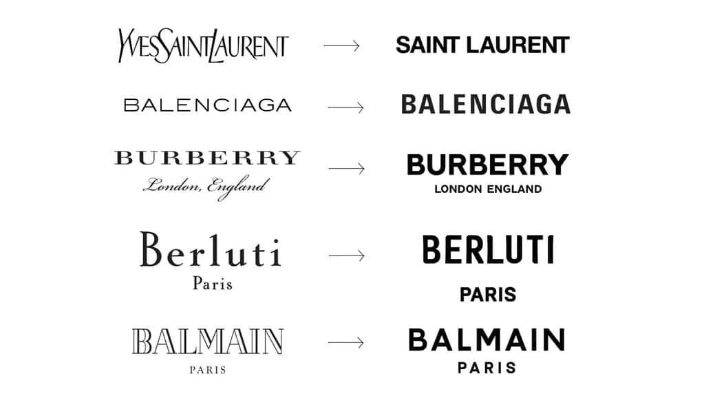 Rebranding de varias marcas de moda