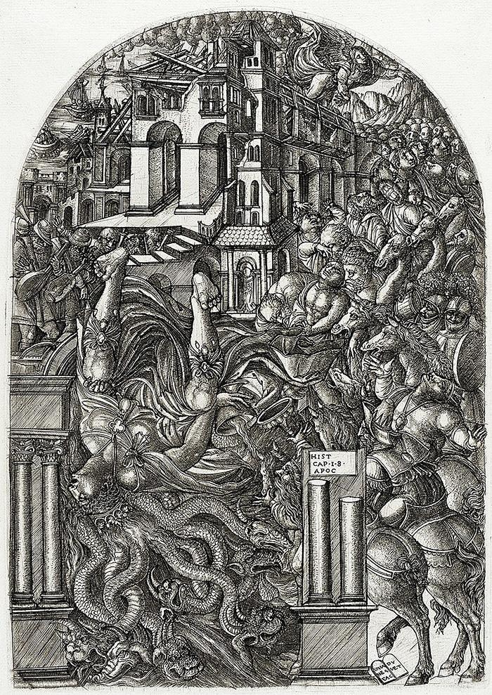 The fall of Babylon (Jean Duvet, 1555)
